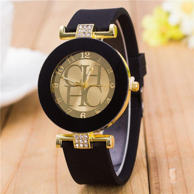 2016 neue modemarke Silikon Uhr 6 farben Analog Quarzuhr Frauen Luxus Kleid Uhren Armband uhr Weibliche