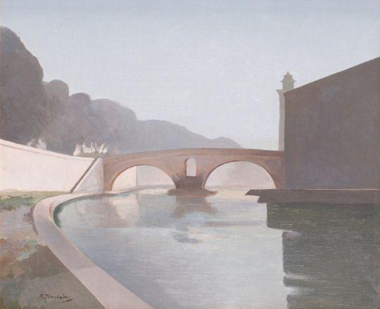 Francesco Trombadori (1886-1961), Mattina al Ponte Fabricio / Morning at Ponte Fabricio, n.d.   oil, 50 x 60 cm