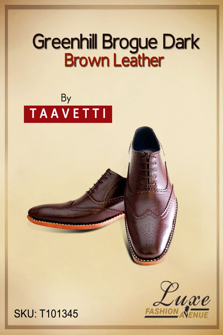 Greenhill Brogue Dark Brown Leather