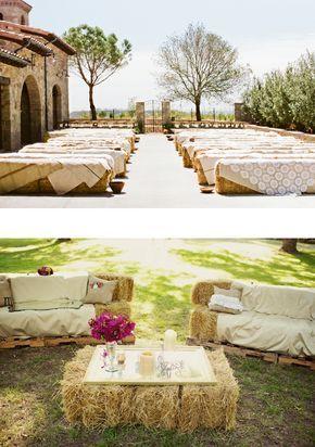 Cérémonie champêtre Tous les accessoires qu'il vous faut pour votre mariage champêtre ! Les bottes de pailles Pour réaliser des bancs (aussi bien pour une cérémonie d'extérieur que pour décor…