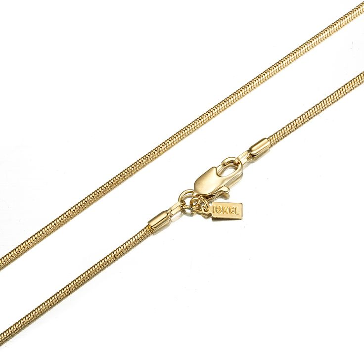 18ct Yellow Gold Layered Snake Chain Necklace | Allure Gold