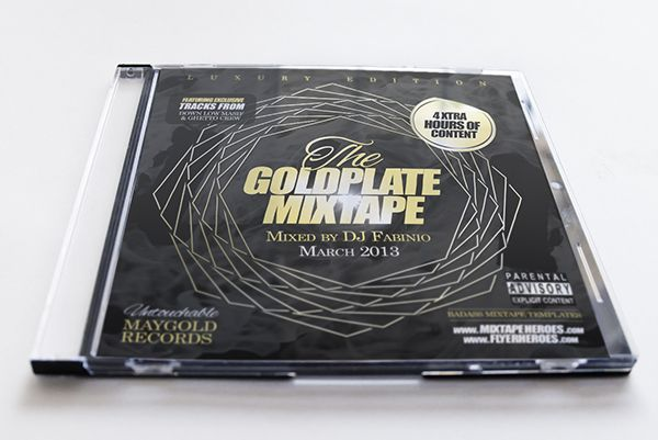 Goldplate Mixtape CD Cover Design Template Free PSD Photoshop – Psd Album Cover Template