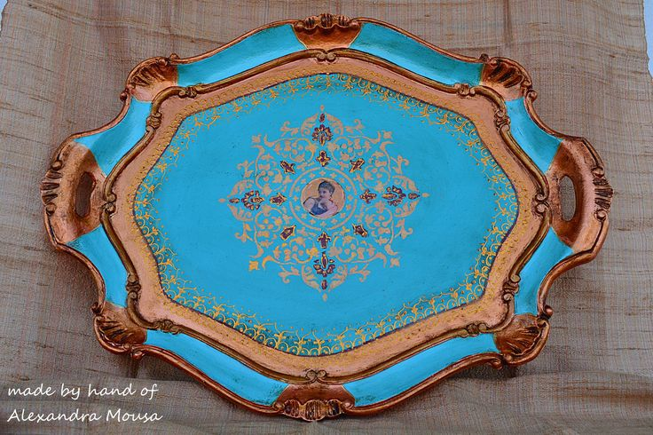 florentine tray hand decorated