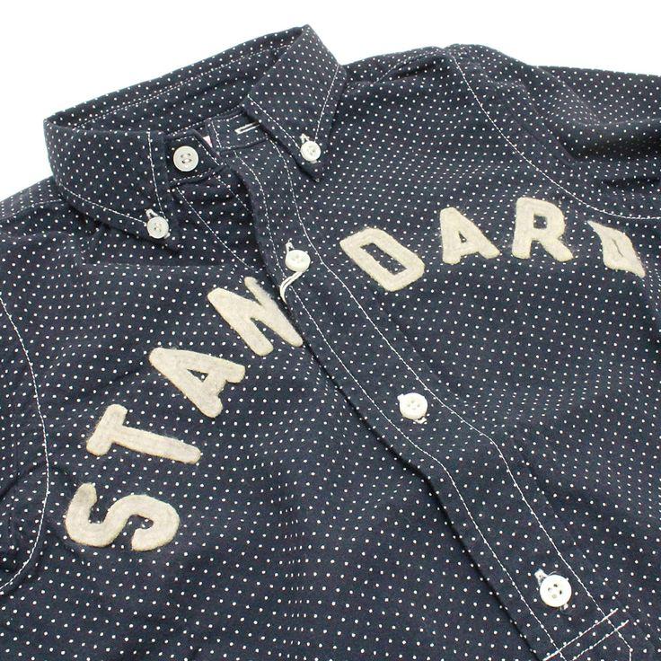 DENIM DUNGAREE(デニム&ダンガリー):ドットシーチング STANDARD シャツ 2BK黒 の通販【ブランド子供服のミリバール】