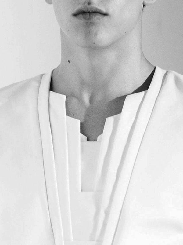 Les Riens.  Deco inspired wardrobe? Yes please. fashion, detail, catwalk, fold, pleats, inspiration, fabric manipulation