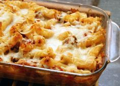 Baked ziti with ricotta, Mozzarella, and Parmesan cheeses. This is an easy baked ziti recipe made with cheese and prepared sauce.