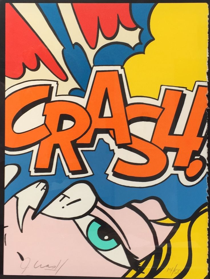 JOHN CRASH MATOS - Crash Orange -  1989 -  Lithograph -  15 x 11 1/4 in. -  Edition of 50 -  Pencil signed and numbered - Contact us at info@gsfineart.com or call us at 305-456-5478