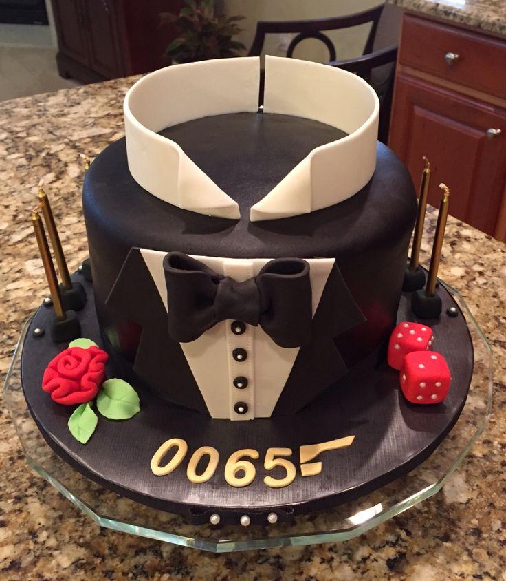 Homemade James Bond Cake Chocolate Ganache