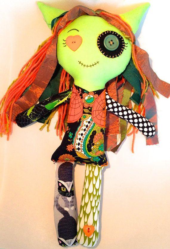 Halloween Monster Rag Doll  Zadie  Monster Doll Gift by EilishTree