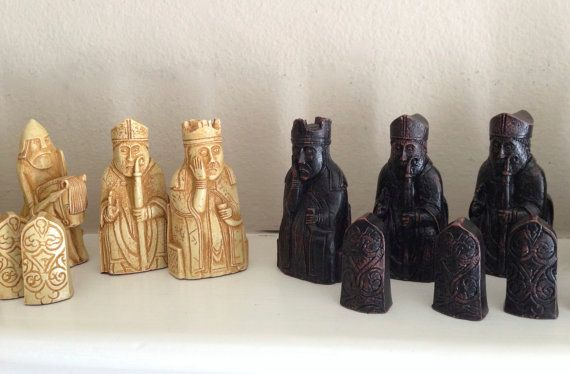 CHESS SET   Isle of Lewis replica's seen in Harry by RomeosLair