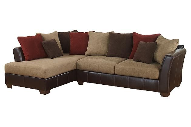Mocha sanya 2 piece sectional view 2 home pinterest for Ashley mocha sectional with chaise