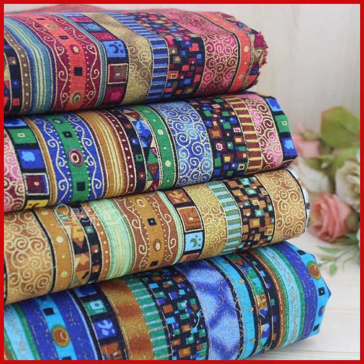 Cheap patchwork fabric, Buy Quality cotton fabric directly from China fabric by meter Suppliers: Nabi  Cotton fabric the cloth Patchwork Fabrics by the meter Clothing for furniture Three - color national wind bronzing