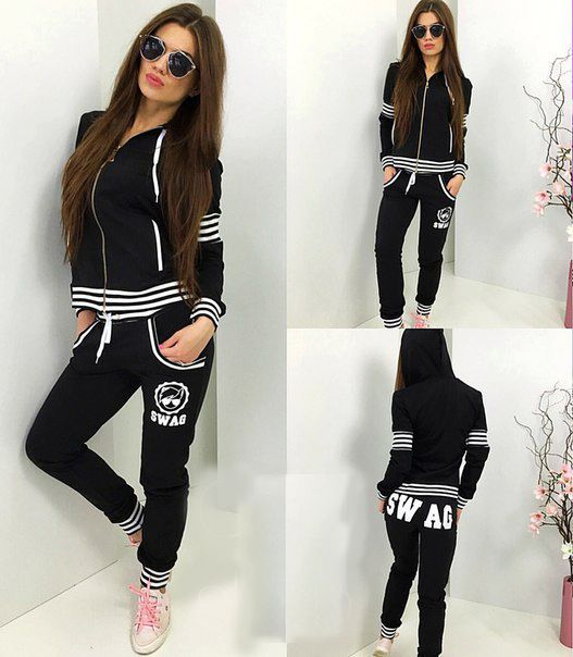 2016 Hooded Solid Tracksuits Women Clothes Sets Running Keep Fitting Sport Suit Hoody Jogging Wearing Outdoor Sports Suits | Aastonstonishing You