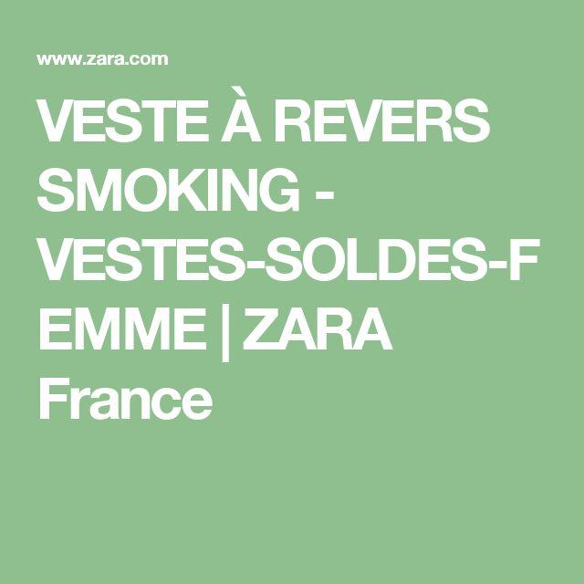 VESTE À REVERS SMOKING - VESTES-SOLDES-FEMME | ZARA France