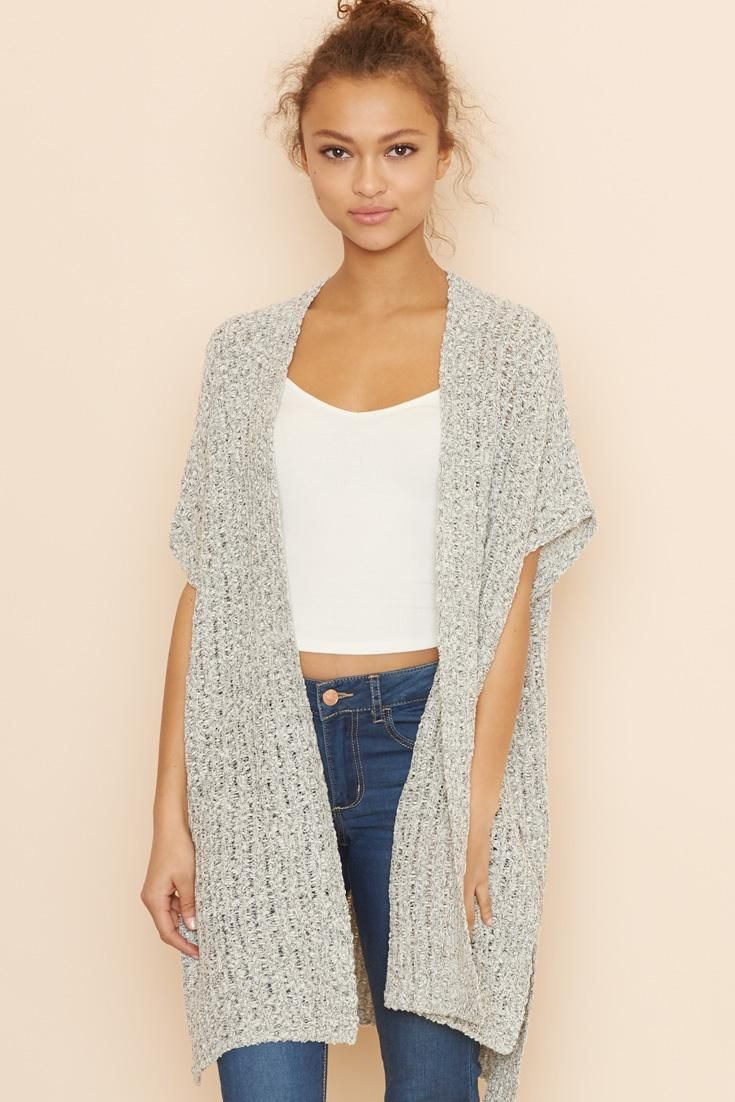 Knitting Pattern Long Sleeveless Cardigan : Best 25+ Knit vest ideas on Pinterest