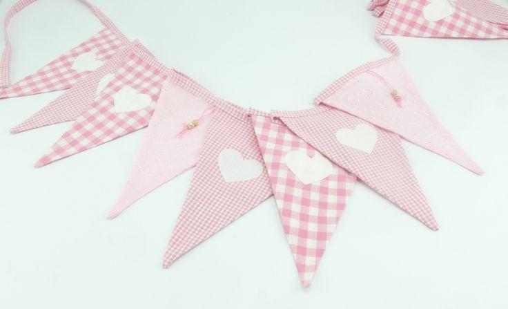 Geboorte roze met hartjes