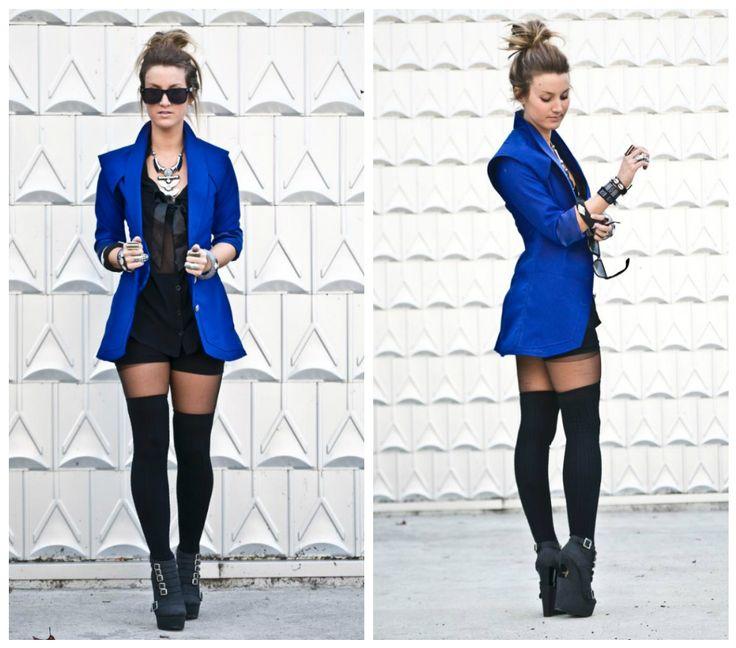 Blue jacket. Elizbourk