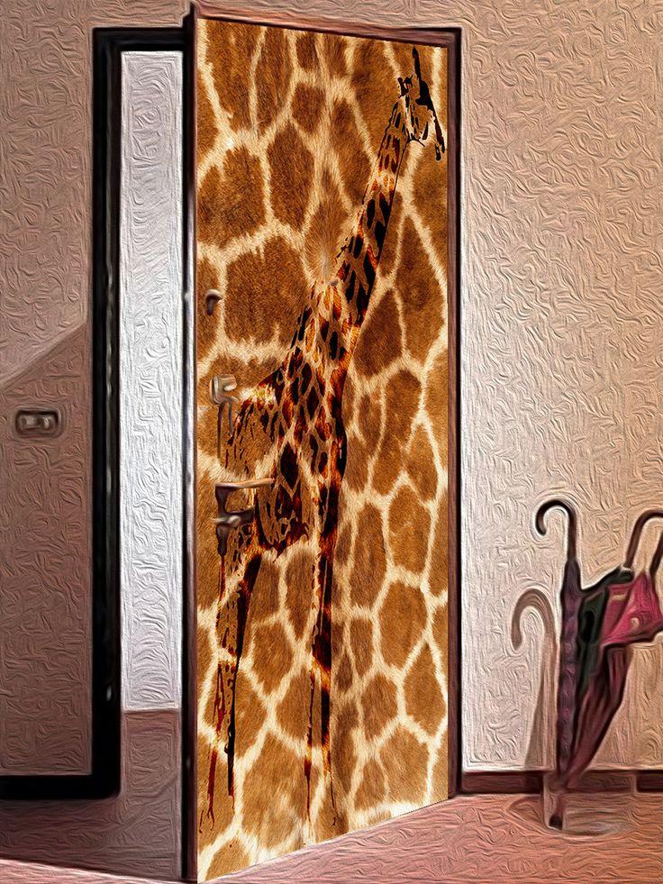 Door sticker – Giraffe