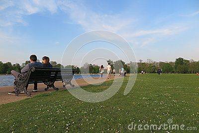 Sunny day at Hyde Park, London.