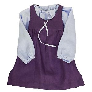 Mákvirág — Pinafore dress lavender
