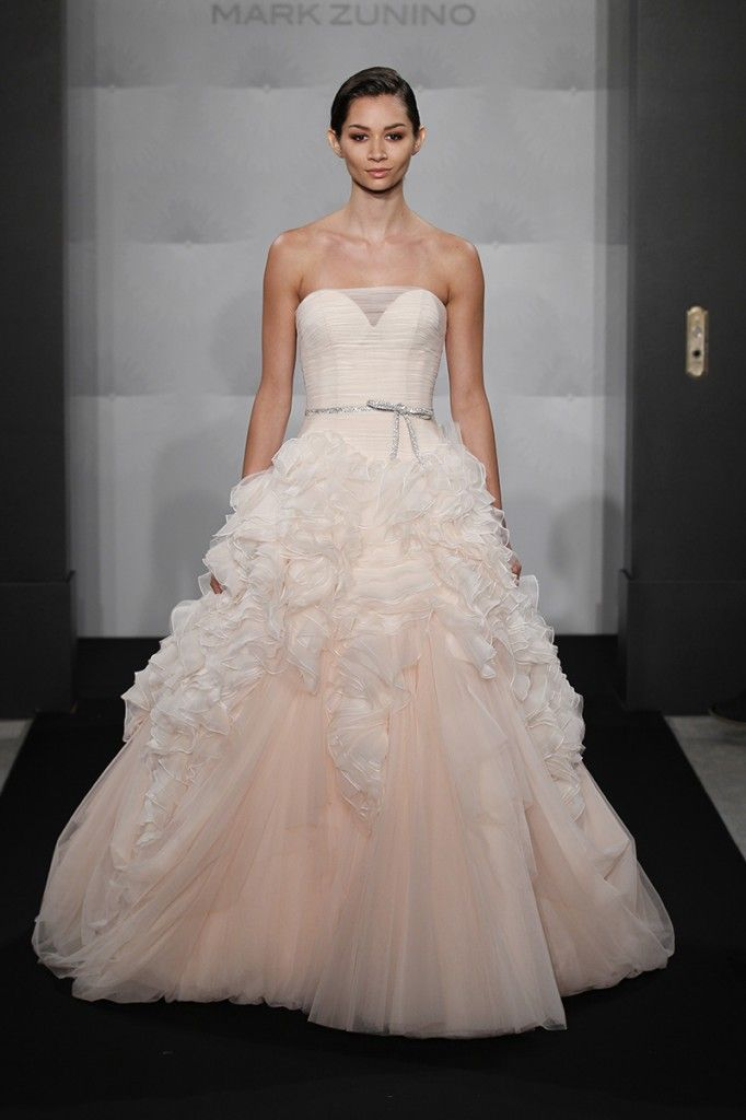 Mark Zunino...love the hidden sweetheart & of course the blush and ruffles