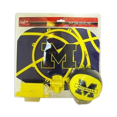 Michigan Wolverines Basketball Slam Dunk Hoop Set