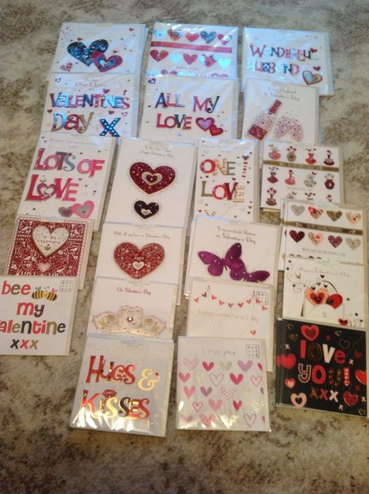 Joblot of 46 Talking Pictures valentines cards. Brand new in cellophane