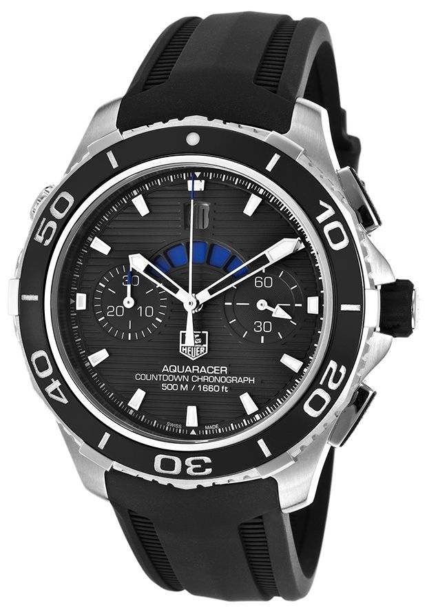 Tag Heuer Blue Aquaracer Automatic http://edivewatches.com/product/tag-heuer-aquaracer-500m-watch/