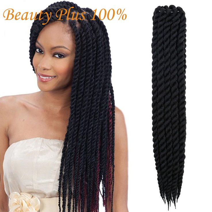 Hot Sell Havana Mambo Twist Crochet Braids Hair 24 Inch Senegalese Synthetic Crochet Twist Jumbo Braiding Hair Extensions