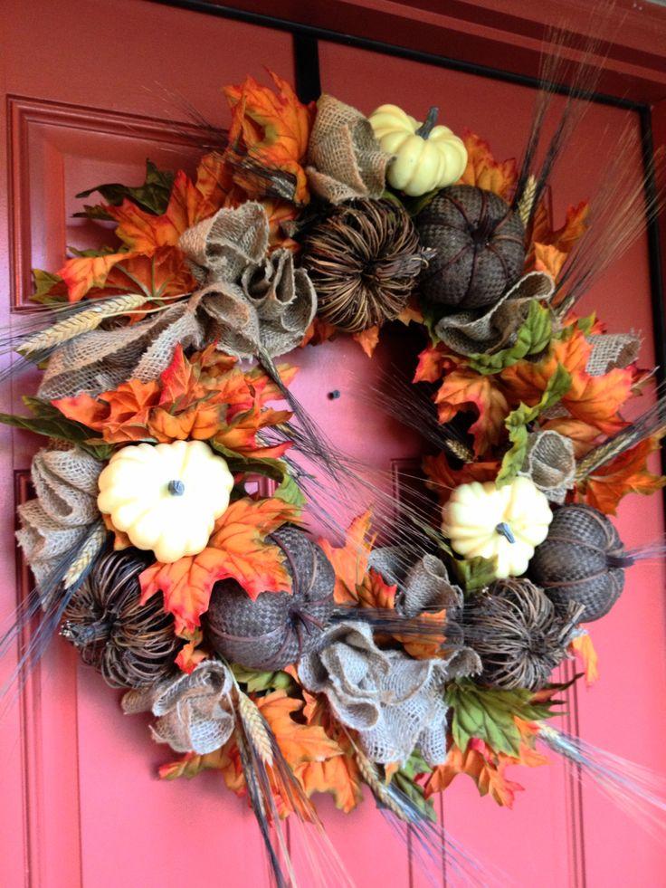 Fall Wreath....Designs by Karrie
