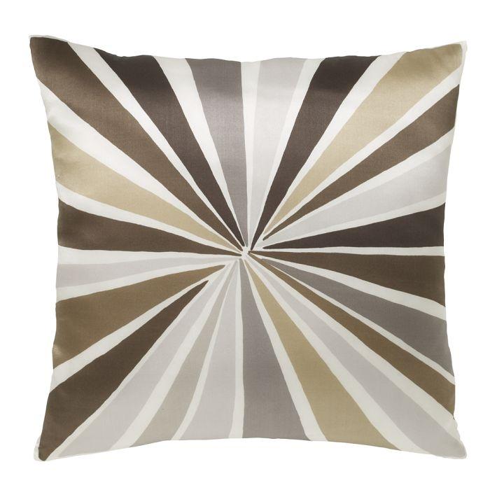 West Elm Bulls eye pillow - family room color scheme