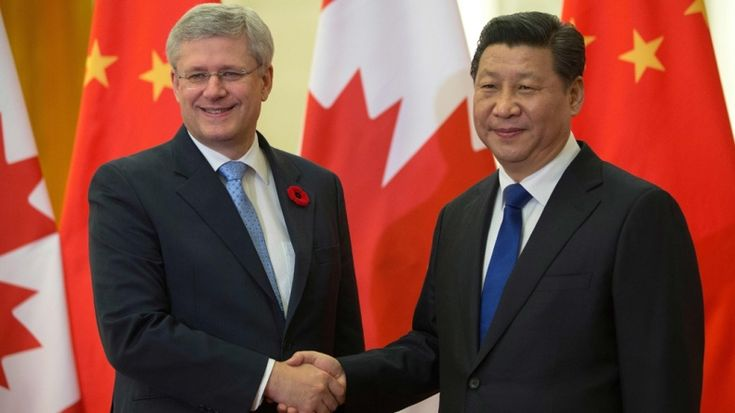 Harper and Xi Jinping photo from Government of Canada website
