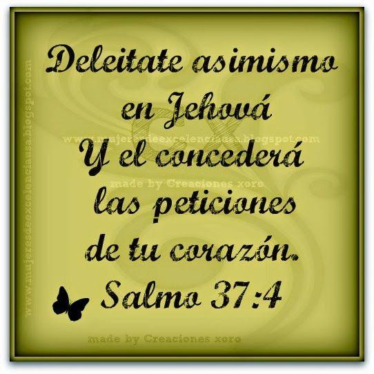 MUJERES DE EXCELENCIA INTERNACIONAL MEI-USA: Deleitate en Jehová Salmo 37:4