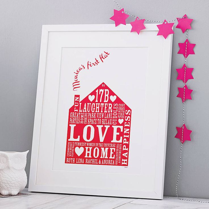 Personalised Our Home Print from notonthehighstreet.com