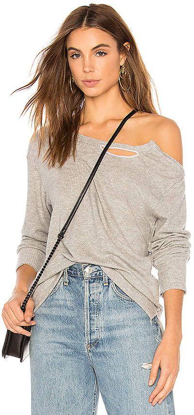 1ce37d386e LNA Brushed Madly Off Shoulder Sweatshirt