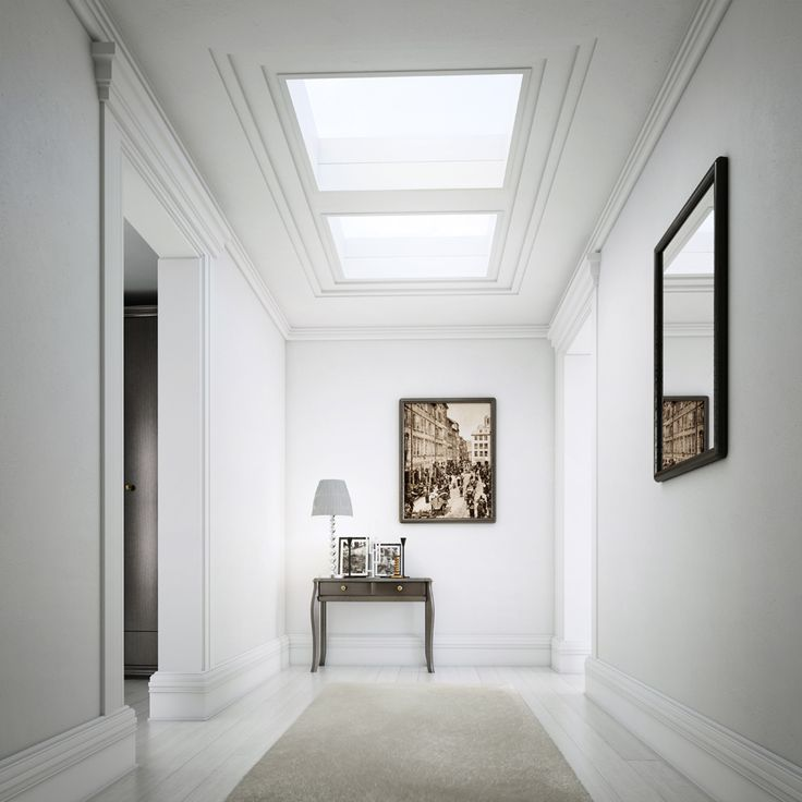 ECO+ glass rooflights stylish, high performing flat roof windows that cost a fraction of the cost of other skylights. Perfect for your hallway & stairwell!