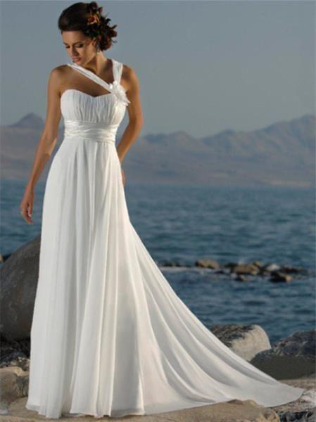 Длинное платье в греческом стиле в стиле ампир