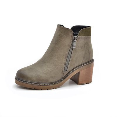 Femmes Sandales Summer Scrub Open-Toe Talons Hauts Simple Shopping Casual Mode Chaussures Taille 33-43 (Color : Dark Khaki, Taille : 37)