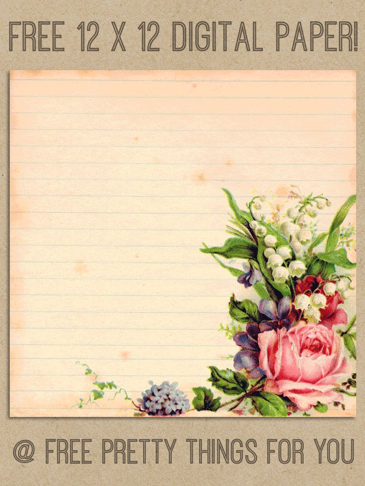 Digital Paper: Romantic 12x12 Digital Scrapbooking Paper - Free Pretty Things For You