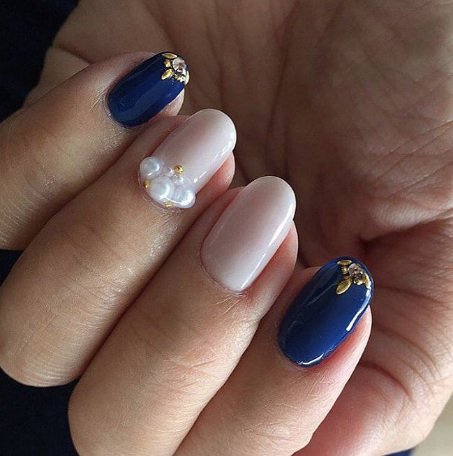 The 25 best pearl nail art ideas on pinterest simple bridal pearl nail art ideas to make your holiday season more elegant prinsesfo Image collections