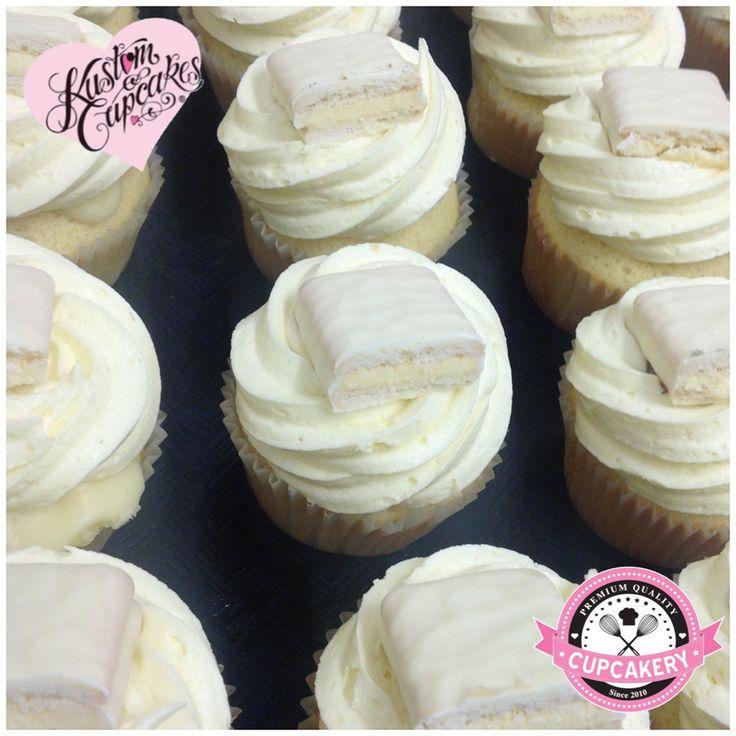 White chocolate Tim Tam cupcakes