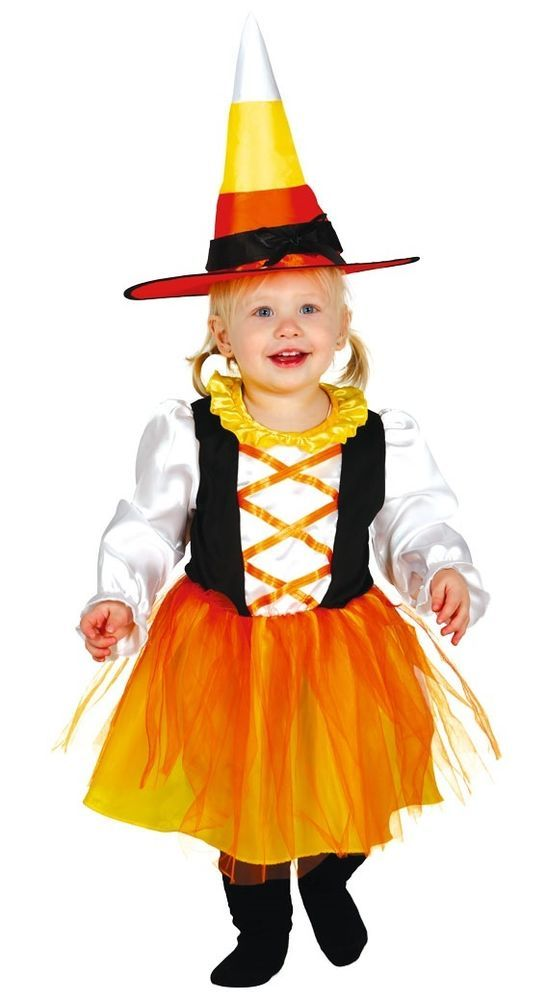 Baby Girls Candy Corn Witch Pumpkin Orange Halloween Fancy Dress Costume Outfit #CompleteOutfit