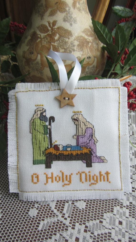 Counted cross stitch nativity