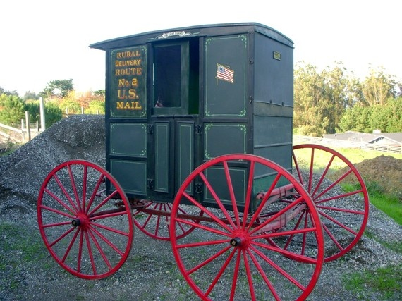 Authentic Antique Horse Drawn Carriage - U.S. Rural Mail Delivery Coach Circa 1901