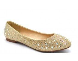 Flat Diamante Shoe - Wilfordshoes.com