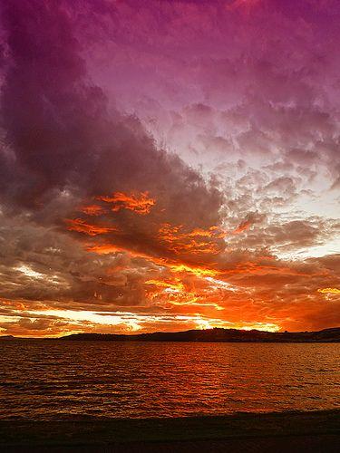 Lake Taupo Sunset - New Zealand