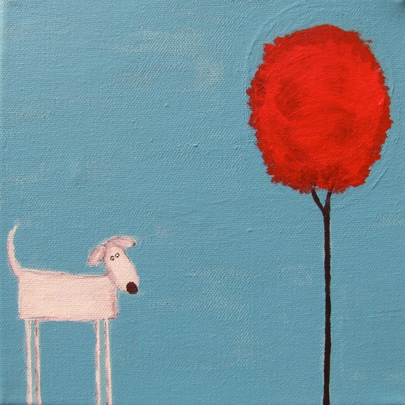 love these whimsical dog paintings