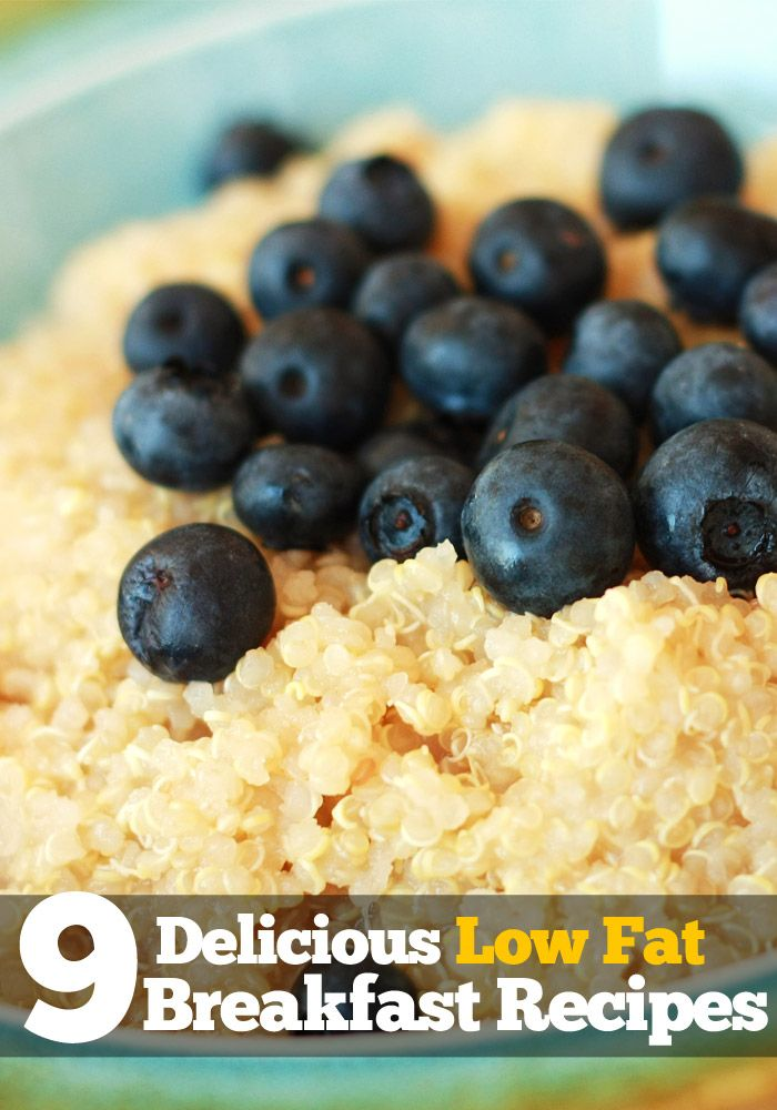 9 Low Fat Breakfast Recipes