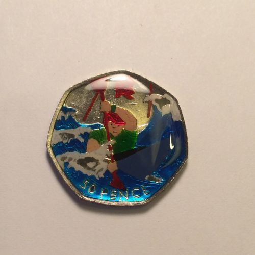 #Enamelled 2011 #olympic #canoeing 50p coin,  View more on the LINK: 	http://www.zeppy.io/product/gb/2/141979761397/