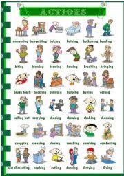 English Worksheets: Actions 3/3